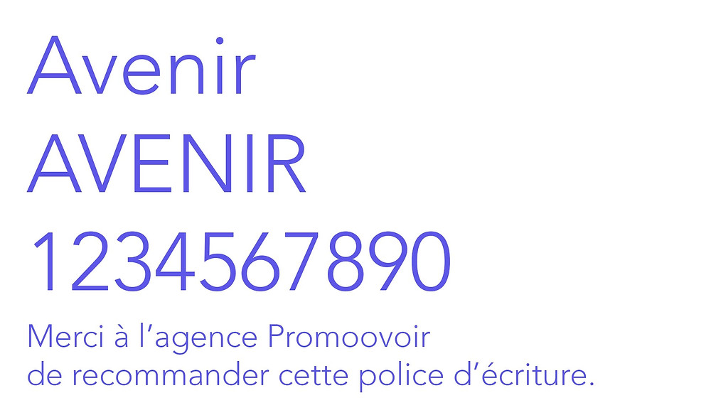 police écriture site wix