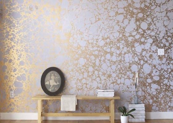 exemple de papier peint sur un mur