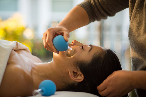 Vacuum Cupping Face Lift Therapy