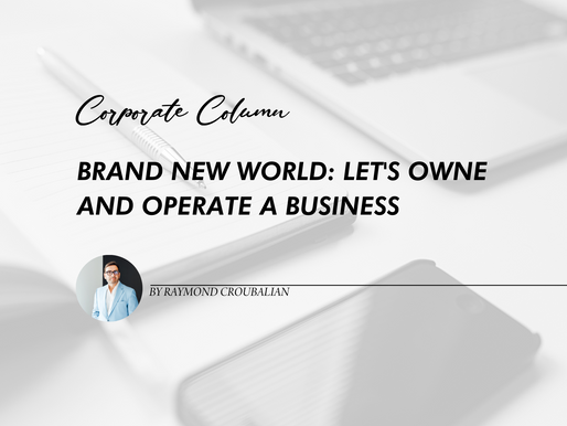 Brave New World:   Let's Own and Operate a Business!