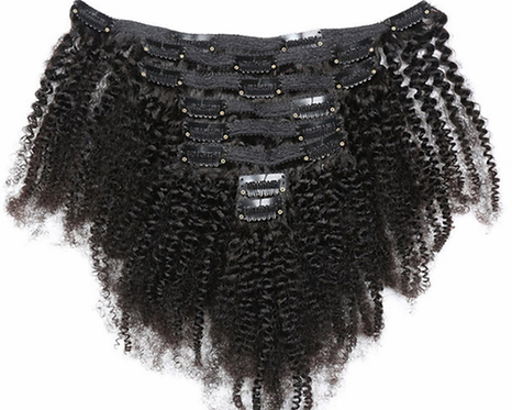 Malaysian Afro Kinky Curly Clip Ins