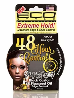 Eco Black castor & Flaxseed Oil Edge Control