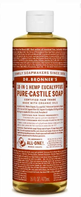 Dr. Bronners Eucalyptus 16oz Castille Soap