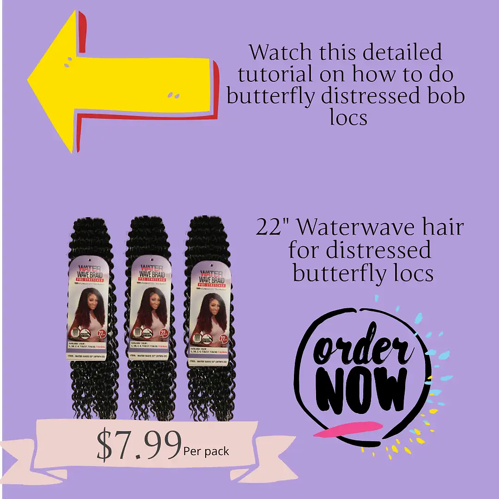 Water wave hair for distressed locks