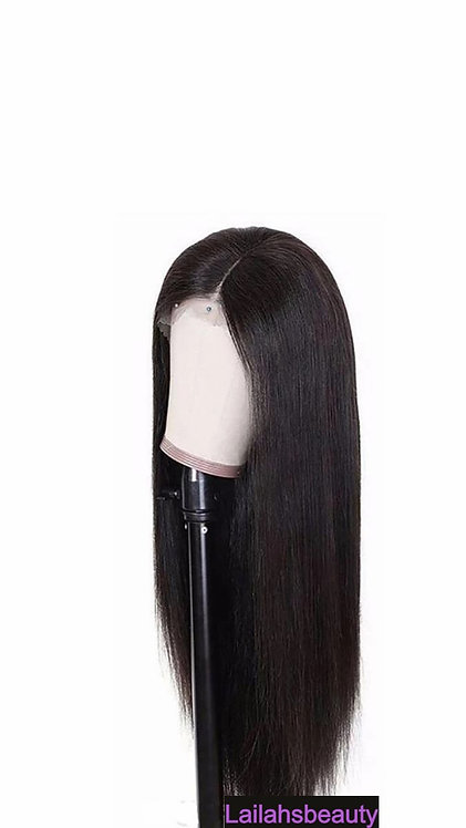 Long Middle Part Synthetic Straight Wig