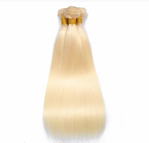 613 Blonde Brazilian Straight Bundles Frontal