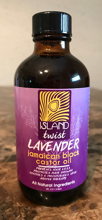 Lavender Jamaican Black Castor Oil 4oz