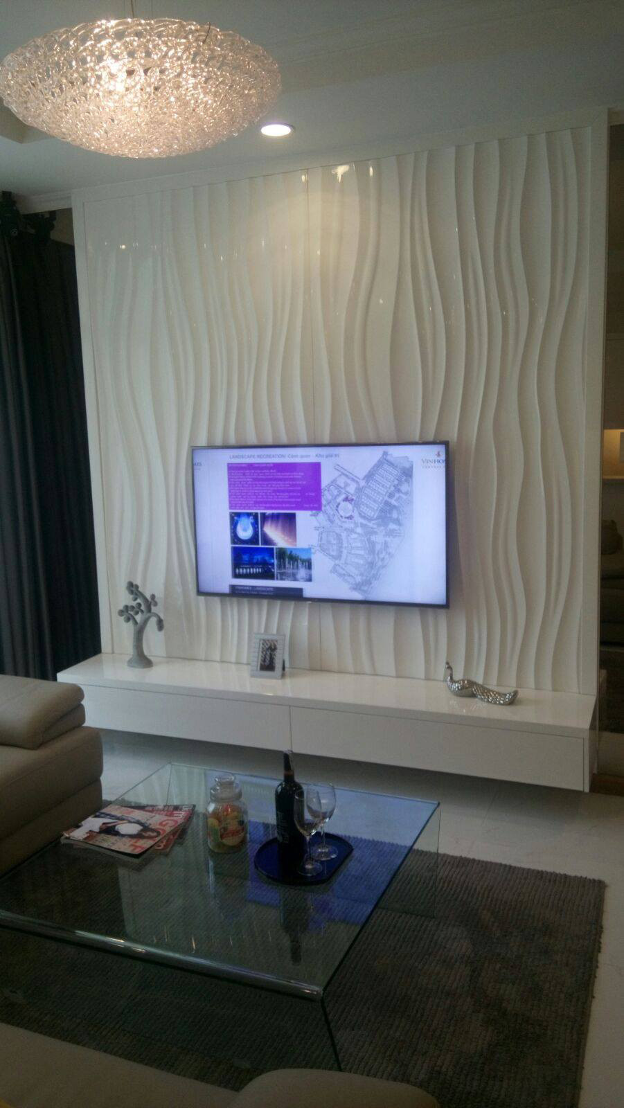 wave feature wall panel