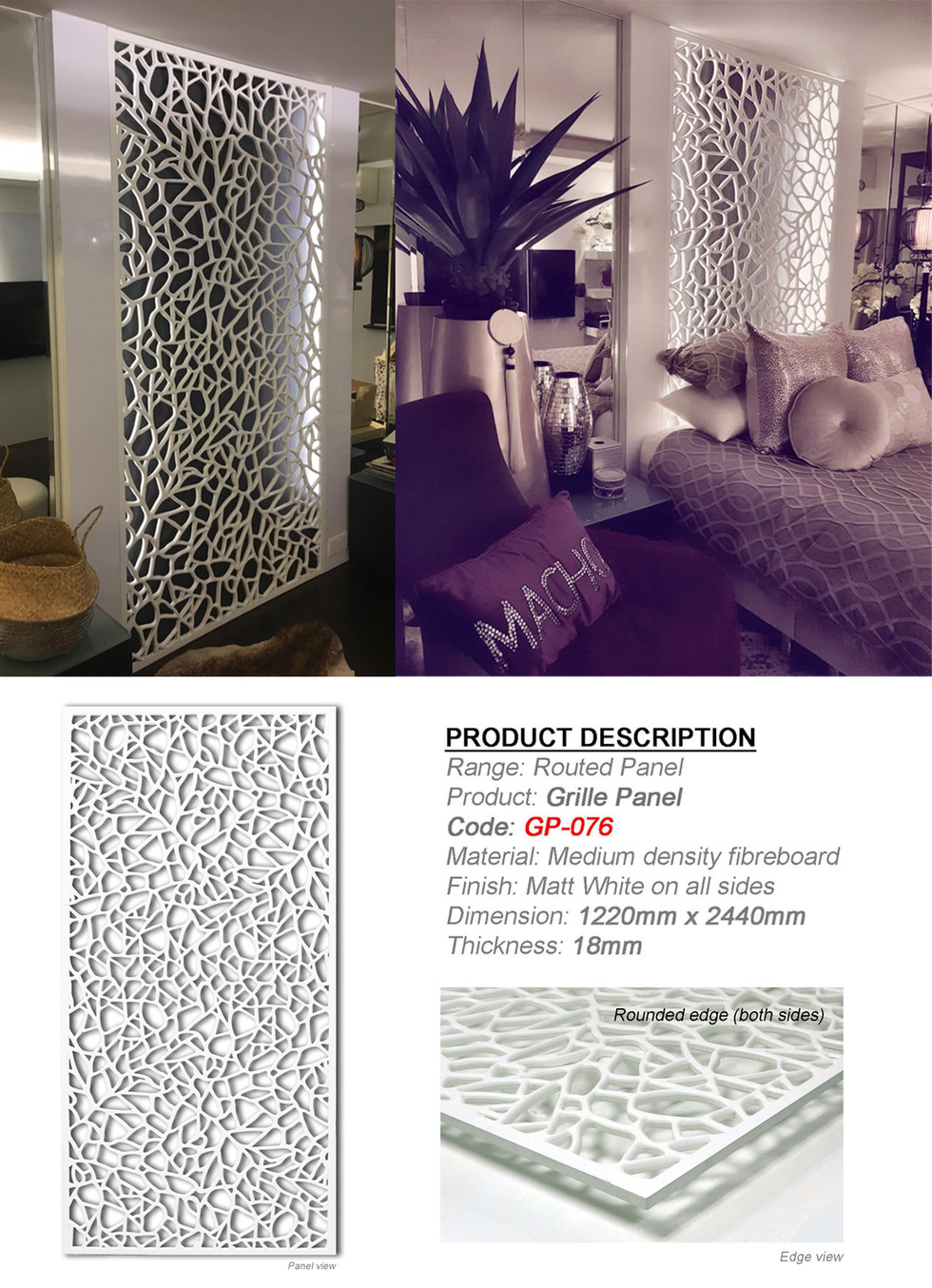 Decorative Partition Panel