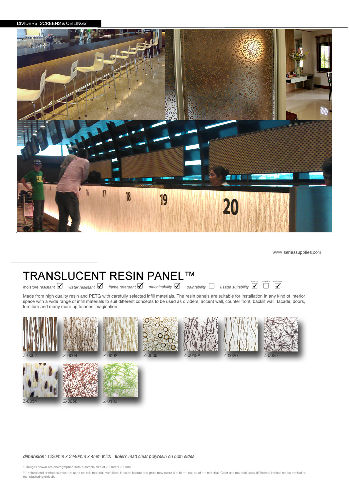 Translucent Screen Panel