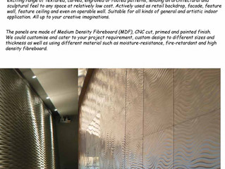 Largest collection of interior wall panels
