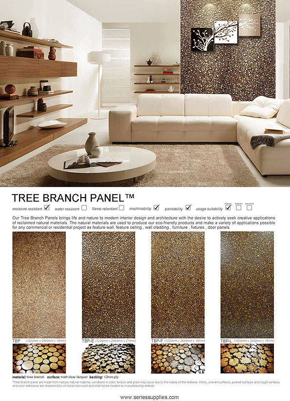 Tree branch wall Panel