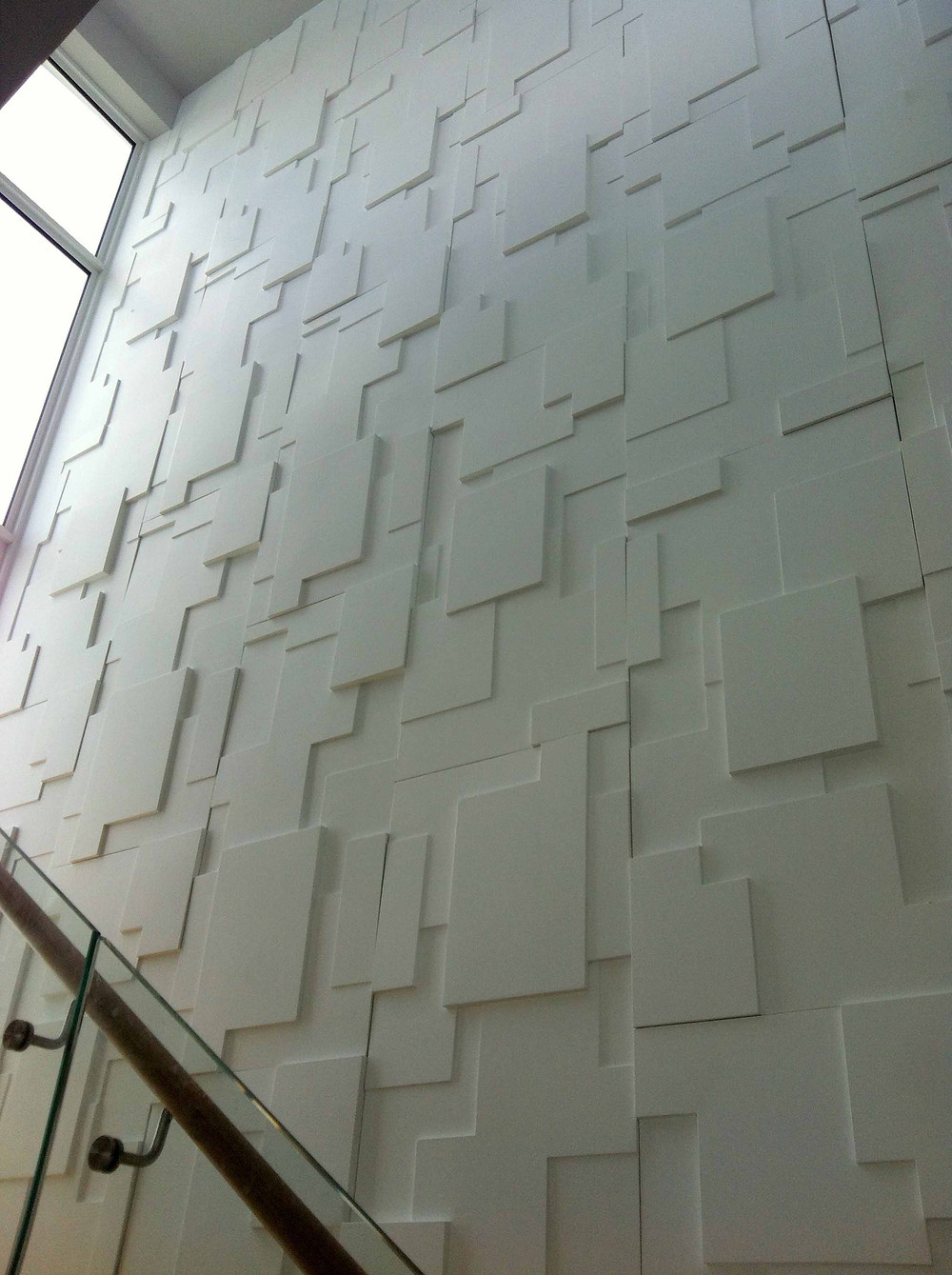 white texture wall feature