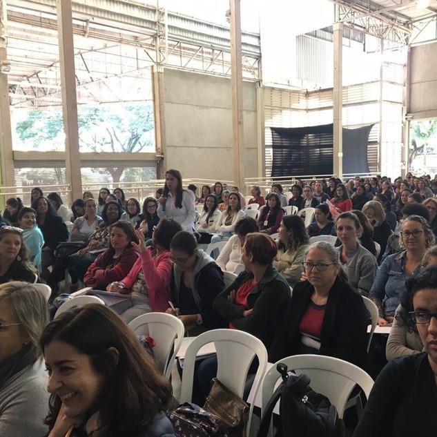 Palestra em Jundiaí na Semana do Brincar. Foto: Pistache Editorial