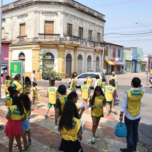 Caminhada pelo centro de Cuiabá, MT. Foto: Jorge Pinho