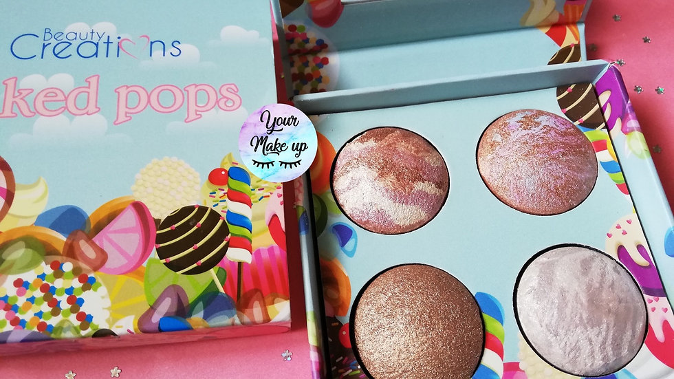 Iluminadores Baked Pops Beauty Creations