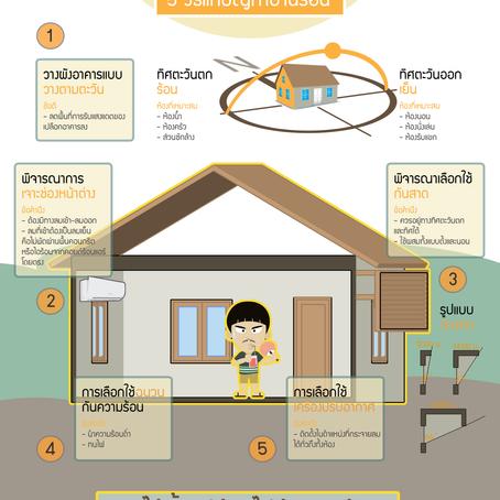 ไอเดียหมอบ้าน #16 : วิธีแก้ปัญหาบ้านร้อน