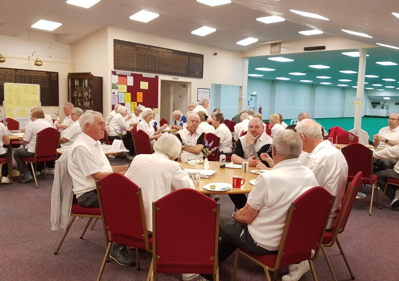 Members enjoying afternoon tea.