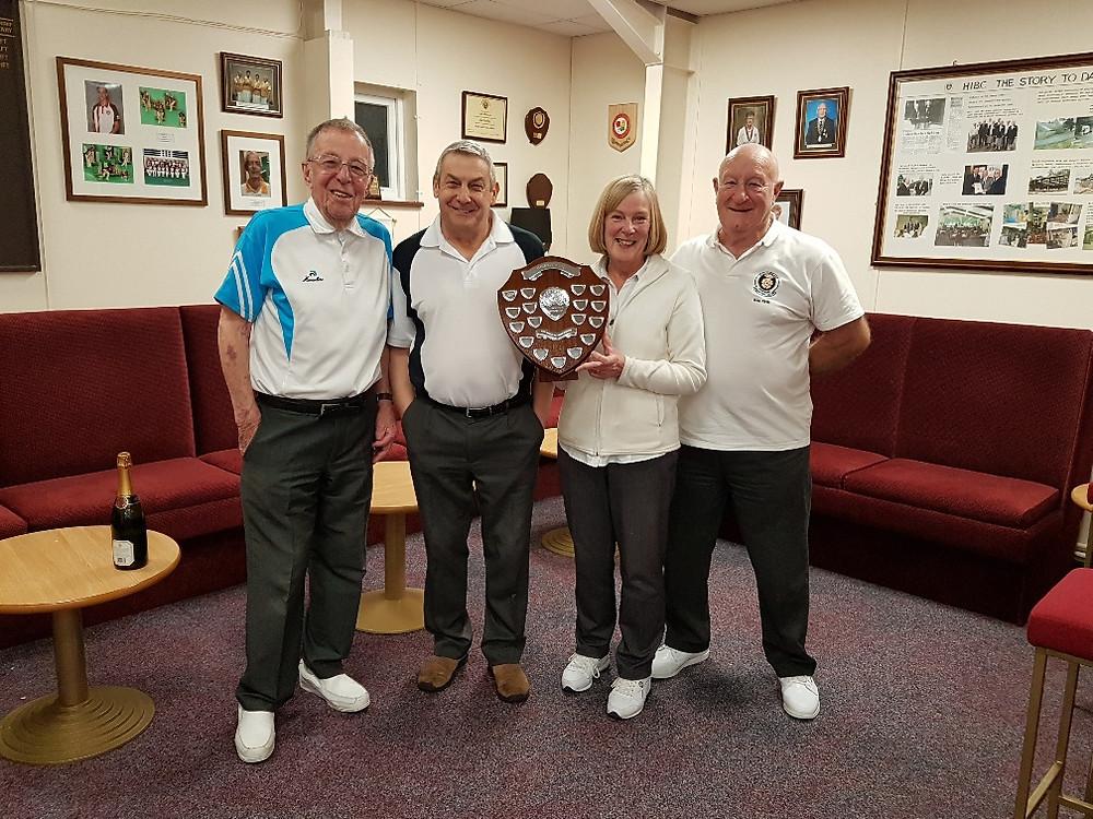 Winners John Lees, Roy Legate, Linda Noy & Ken Firth