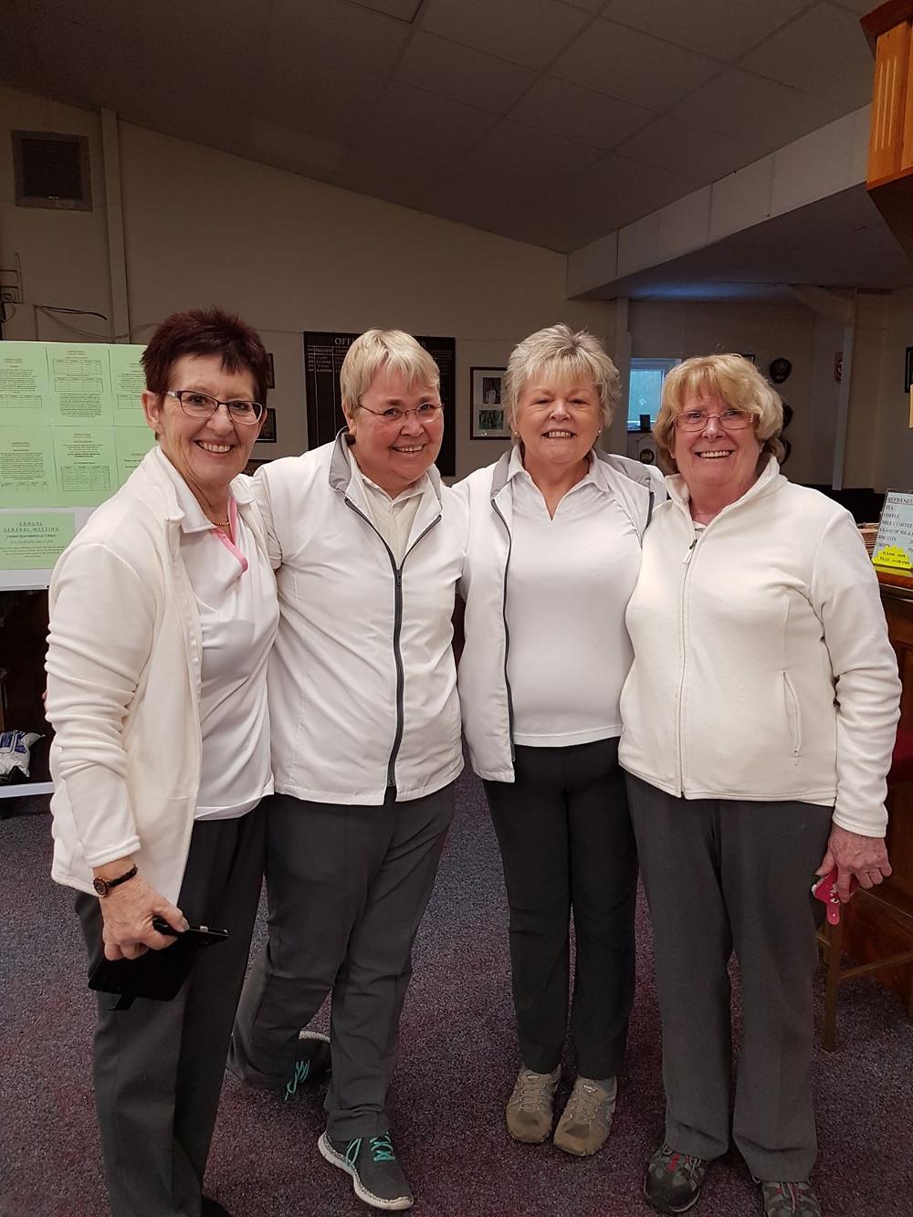 Winning Ladies: Anna Naughton, Vanessa Gant, Sheila Bastow & Jenny Woolley