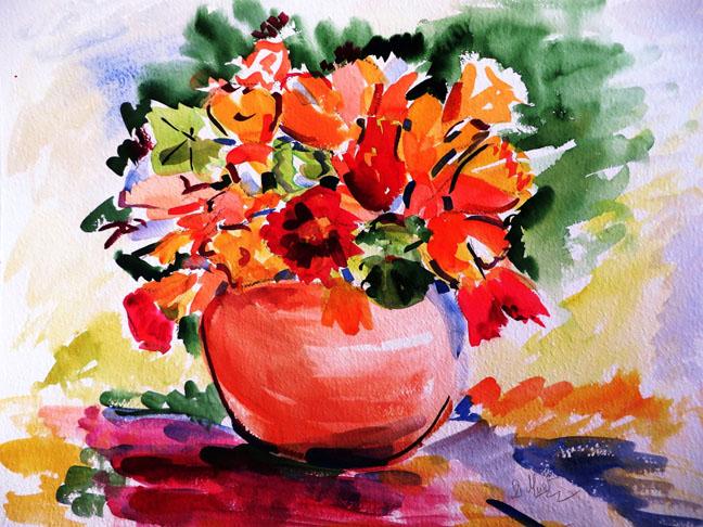 Les fleurs du jardin de ma mère