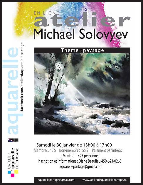 Affiche ATELIER MICHAEL SOLOFVYEV
