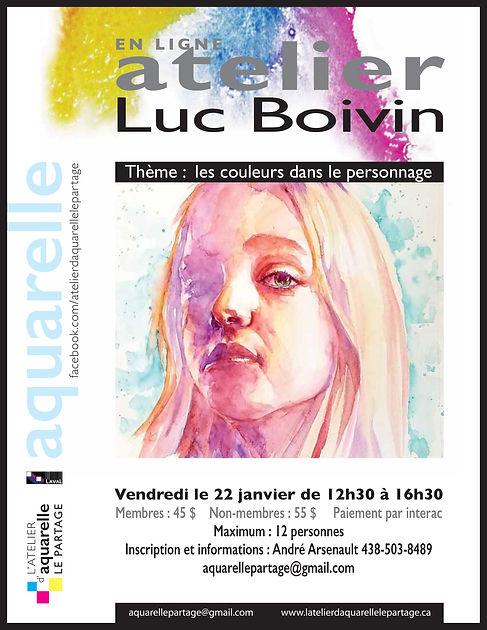 Affiche Atelier LUC BOIVIN