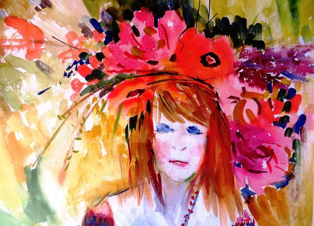 La fille au chapeau de fleurs