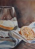 Un bon verre d'eau citronnée