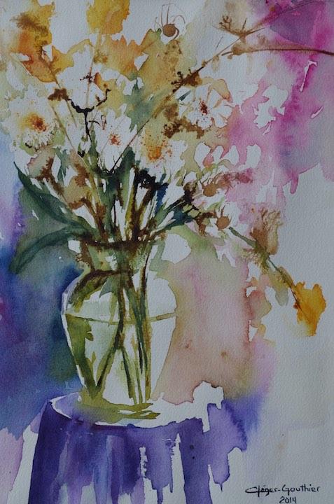 Fleurs blanches en folie