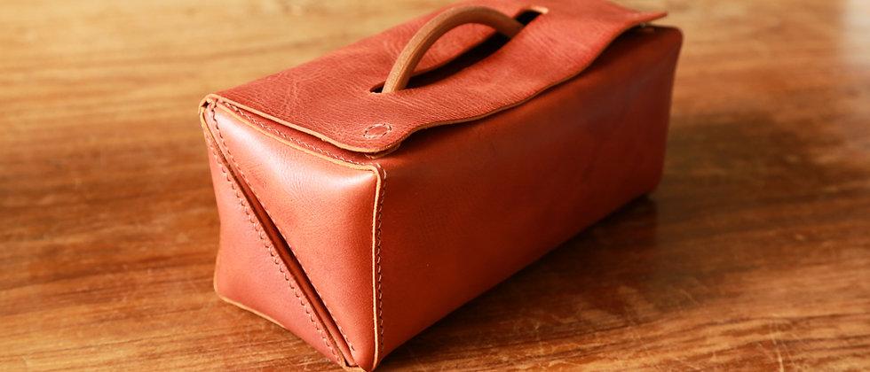hykc可展開手縫意大利牛皮化粧包, 美術用具包