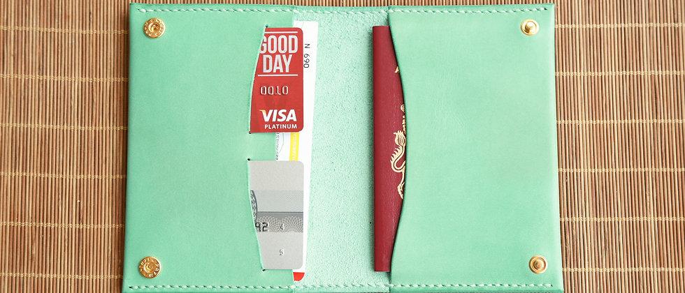 植鞣真皮簡約護照夾,旅行護照套