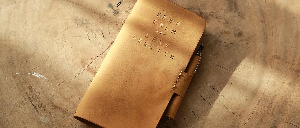 真皮筆記本可插筆手帳真皮皮套連筆記本