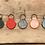 Thumbnail: 手縫Monogram匙扣, 圓型刻字匙扣