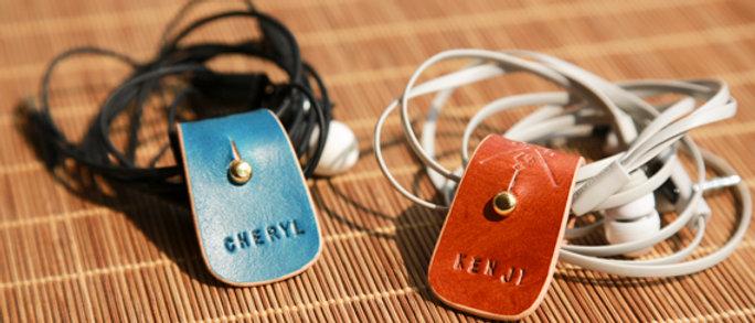 手造皮製捲線器 耳機線 電線收納 捆綁帶
