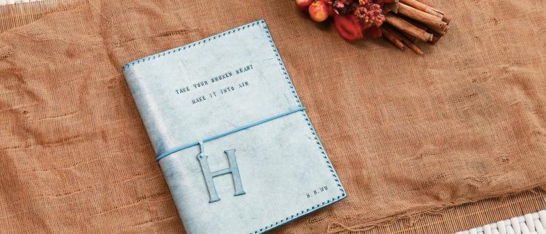 材料包, A5真皮手縫書套, 可代製作
