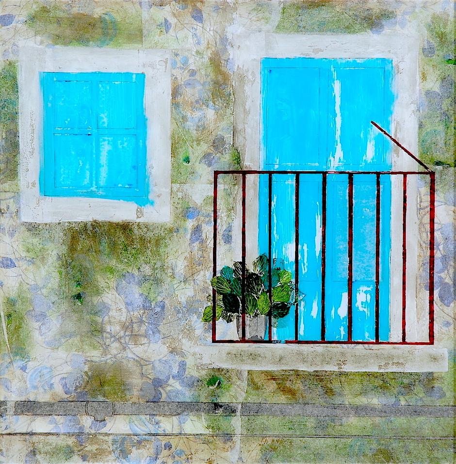 Filadelfia-blue window and door, quiet quiet old