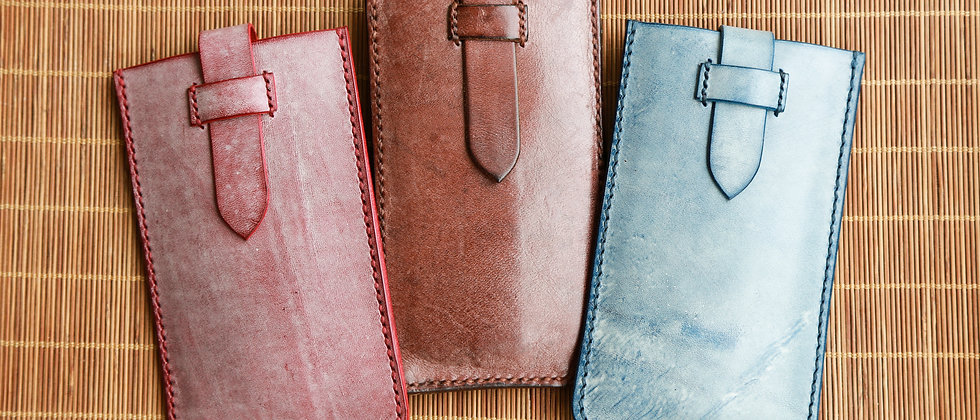 可拉出擦蠟皮手機套, 手縫手機皮套 (4.7 吋用)