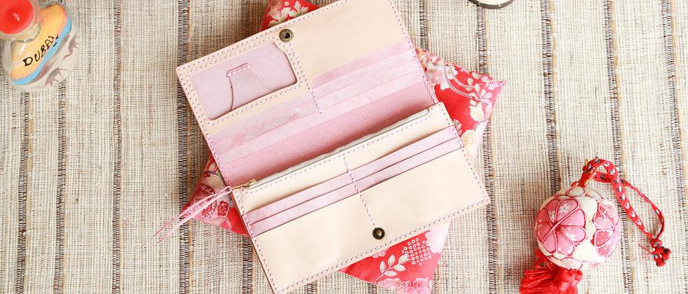 材料包, 皮製長錢包, 拼色錢夾手縫材料包