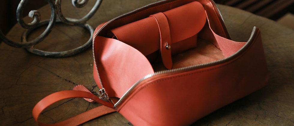 皮製旅行化妝包, 手提化妝包