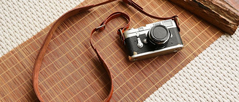個性化棕色皮革相機帶,皮製相機帶,Leica,Canon 5DMark 3
