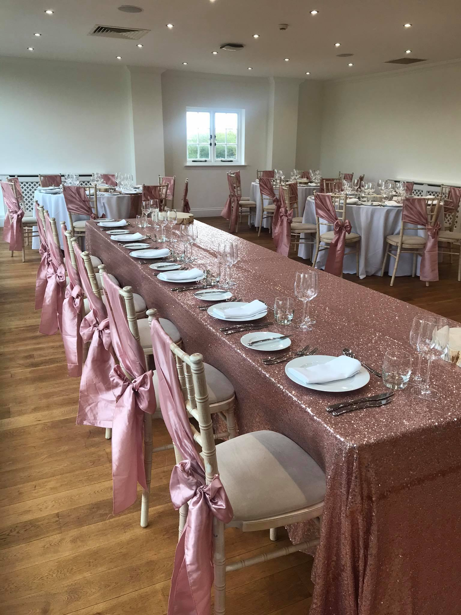 Rose Gold Sequin Top Table Cloth