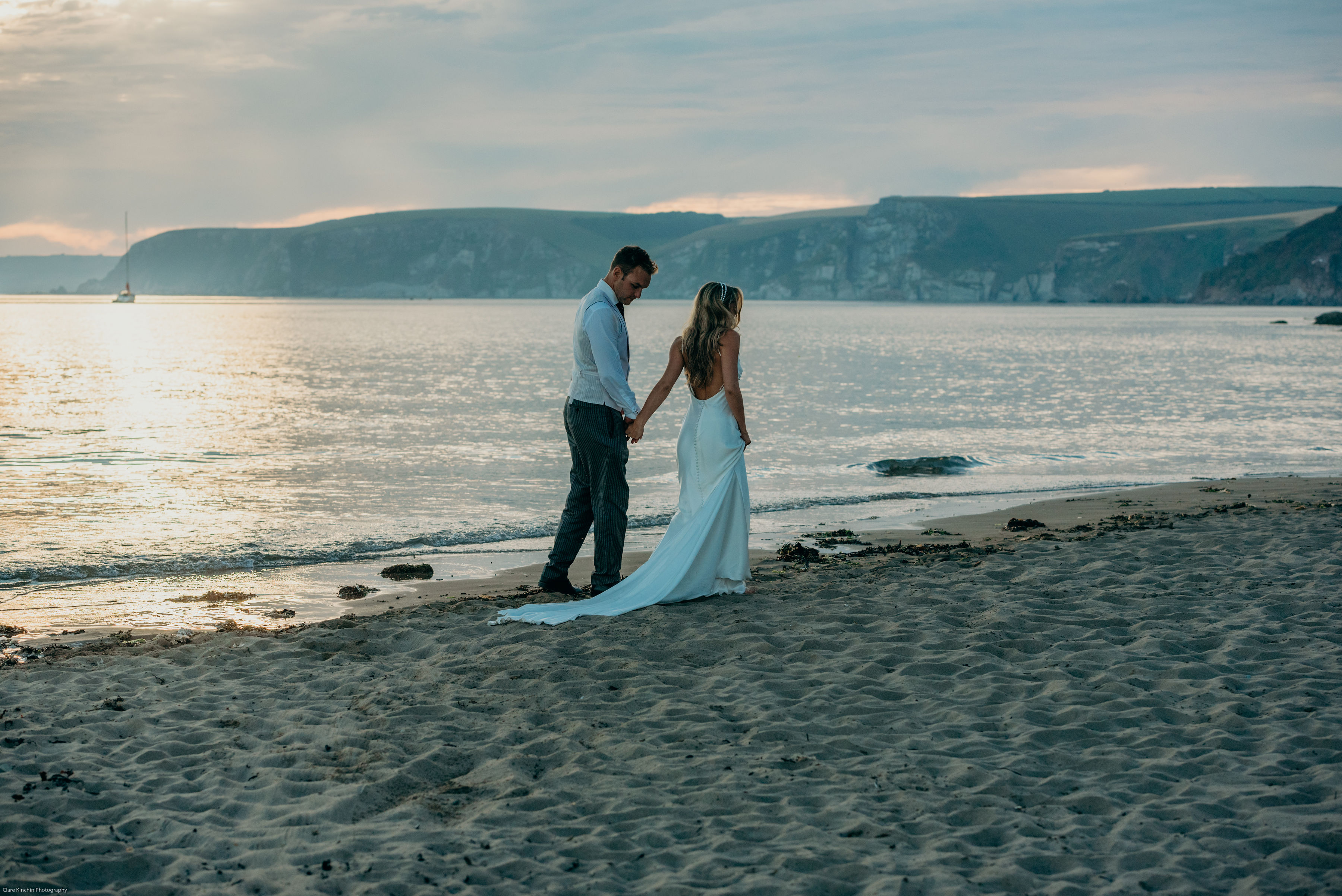 Devon beach wedding