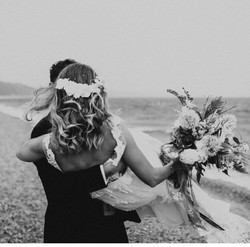 Beach wedding devon