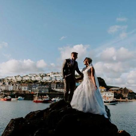 Real wedding - Intimate Cornish wedding