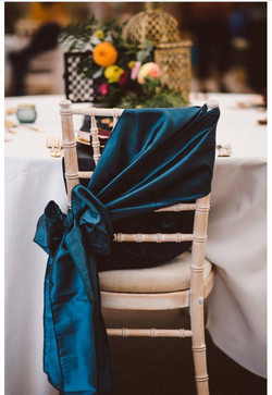 Dark Turquoise Chair Sash