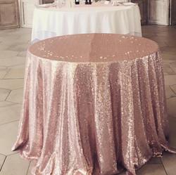 Rose Gold Sequin Cake Cloth