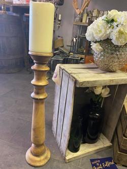 Wooden floor standing Candlestick