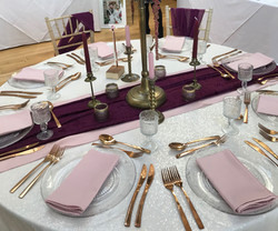 Ivory Sequin table cloth