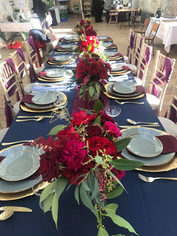 Navy Top Table Cloth